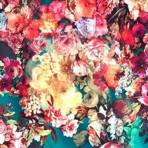 NWOT eci New York floral skirt